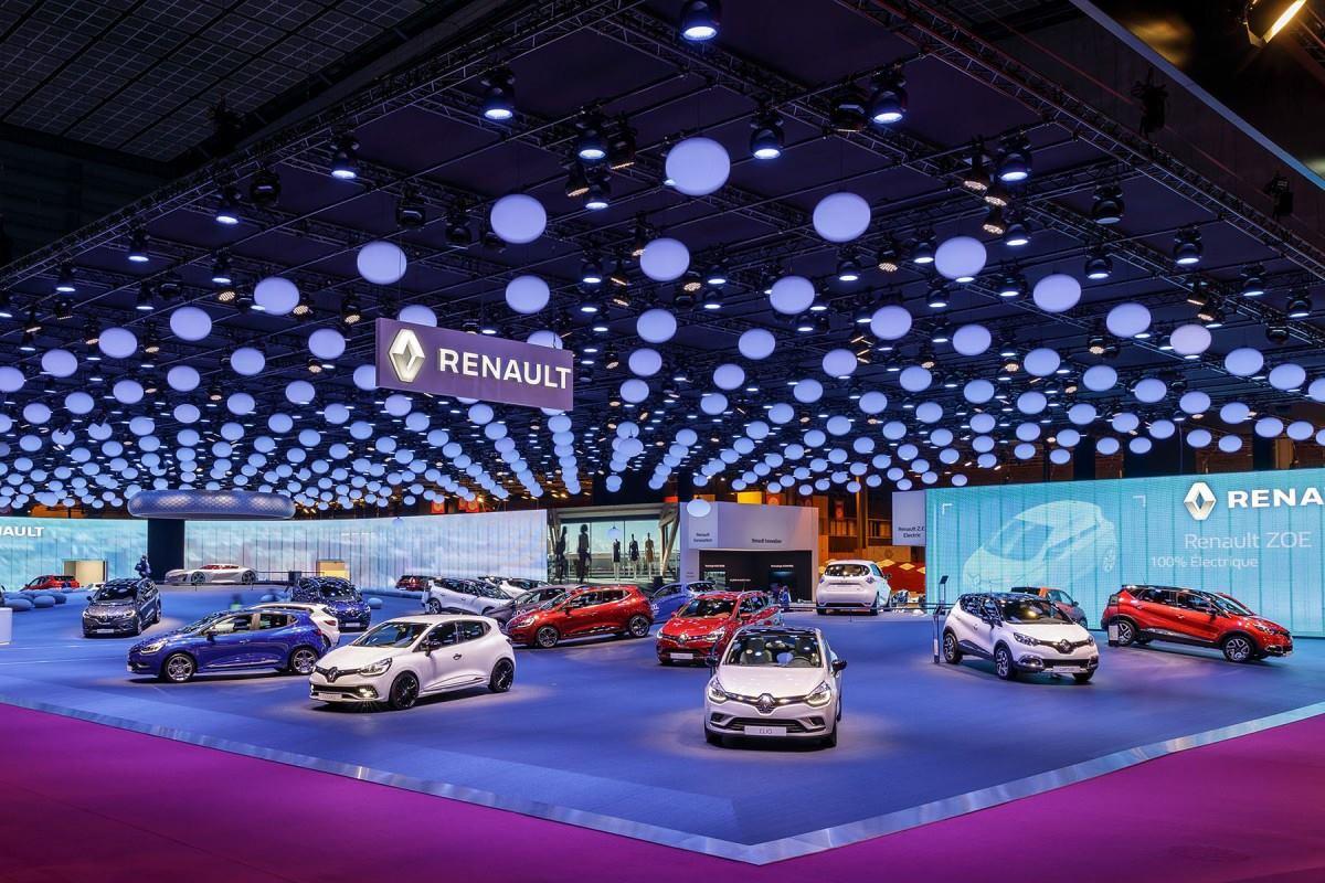 Stand Renault pour le Mondial auto 2016